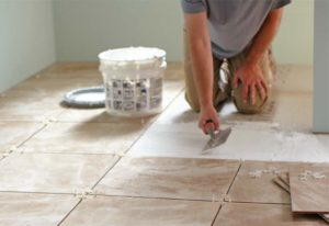 Floor Tile Grouting - Mixing the Grout on the Correct Consistency
