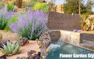 Flower Garden Style Using Desert Plants Rocks and Water Friendly Desert Tips